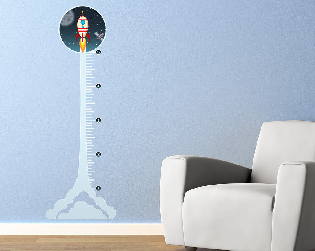 Rocket Growth Chart Wall Decal StickerWhalecom - Custom vinyl wall decals falling off