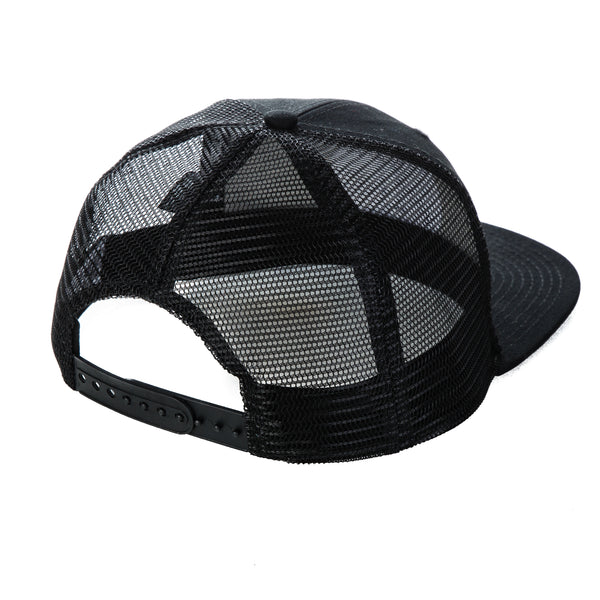 Malibu Surf Shack Snap-Back Mesh Patch Cap - Black Rainbow