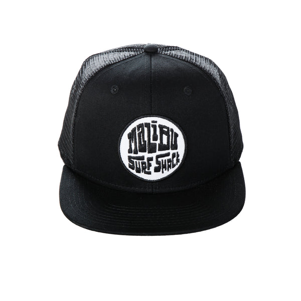 Malibu Surf Shack Snap-Back Mesh Patch Cap - Black