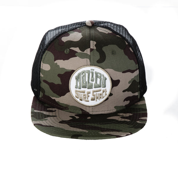 Malibu Surf Shack Snap-Back Mesh Patch Cap - Camo