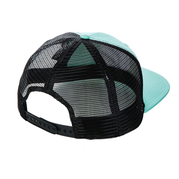 Malibu Surf Shack Snap-Back Mesh Patch Cap - Seafoam