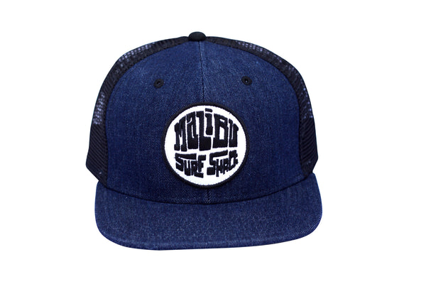 Malibu Surf Shack Snap-Back Mesh Patch Cap - Denim