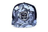 Malibu Surf Shack Snap-Back Mesh Patch Cap - Grey Camo