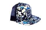 Malibu Surf Shack Snap-Back Mesh Patch Cap - Black Floral