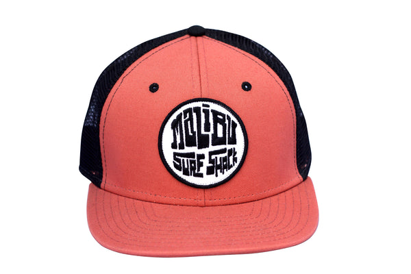 Malibu Surf Shack Snap-Back Mesh Patch Cap - Mango