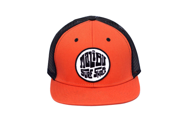 Malibu Surf Shack Snap-Back Mesh Patch Cap - Burnt Orange