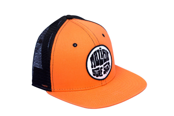 Malibu Surf Shack Snap-Back Mesh Patch Cap - Orange