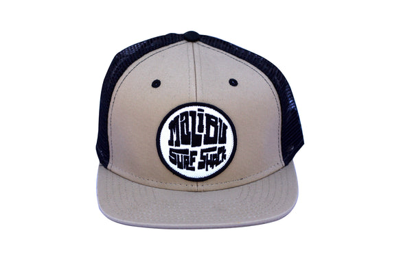 Malibu Surf Shack Snap-Back Mesh Patch Cap - Khaki