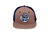 Malibu Surf Shack Snap-Back Mesh Patch Cap - Latte