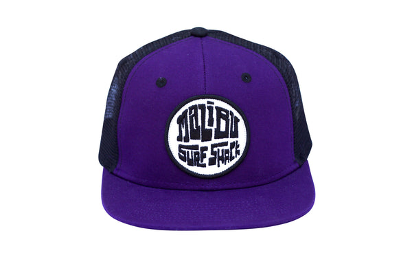 Malibu Surf Shack Snap-Back Mesh Patch Cap - Purple