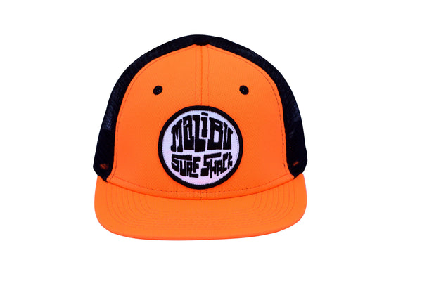 Malibu Surf Shack Snap-Back Patch Cap - Neon Orange