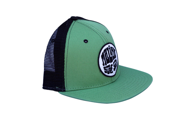 Malibu Surf Shack Snap-Back Mesh Patch Cap - Kiwi