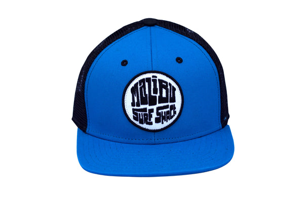 Malibu Surf Shack Snap-Back Mesh Patch Cap - Electric Blue