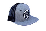 Malibu Surf Shack Snap-Back Mesh Patch Cap - Heather Flannel