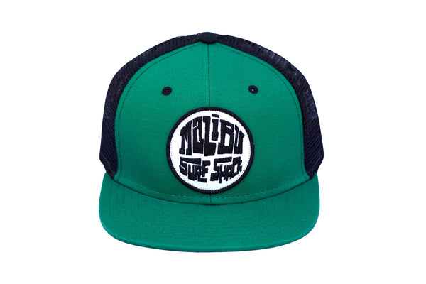 Malibu Surf Shack Snap-Back Mesh Patch Cap - Green