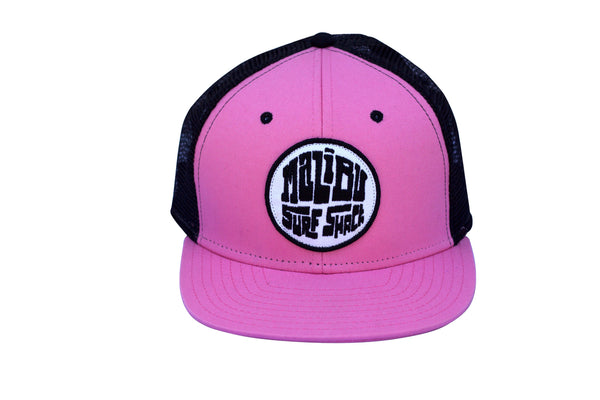 Malibu Surf Shack Snap-Back Mesh Patch Cap - Pink