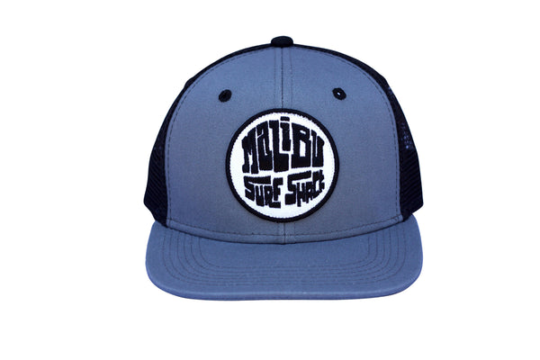 Malibu Surf Shack Snap-Back Mesh Patch Cap - Slate