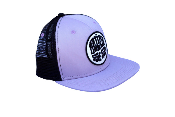 Malibu Surf Shack Snap-Back Mesh Patch Cap - Lilac