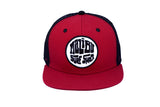 Malibu Surf Shack Snap-Back Mesh Patch Cap - Red