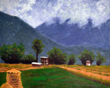 Bhutan Series - Moody Mountains And Green Fields