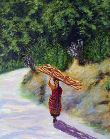 Woman Carrying Firewood (Kodaikanal Series)