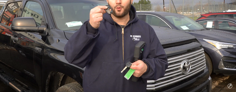 Programming a remote key for a 2017 Toyota Tundra