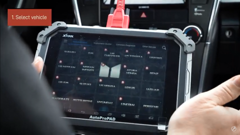 Select your vehicle on the AutoProPAD
