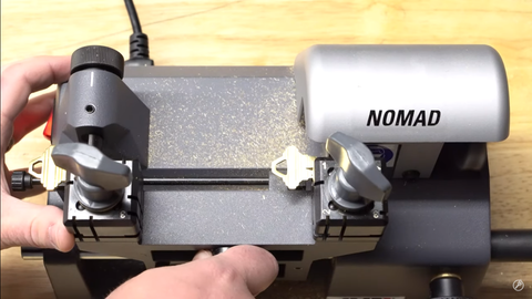 Cutting a SC1 with the Nomad Manual Key Cutting Machine