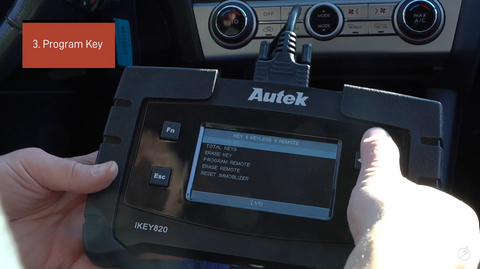 How to Use the Autek IKey820 Key Programmer