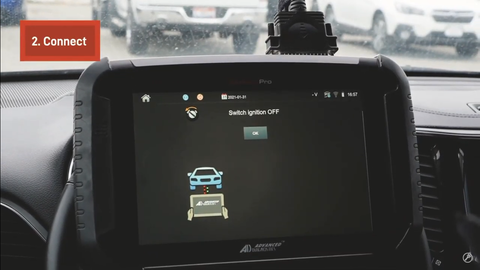 Connect the SmartPro Key Programmer to Jeep