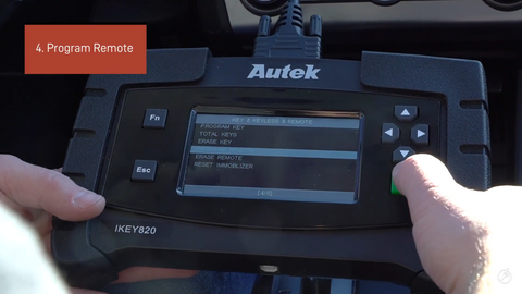 Program Key Remote on the Autek IKey820 Key Programmer