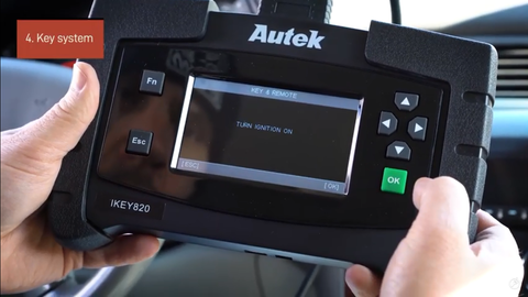 How to use the Autek Ikey820