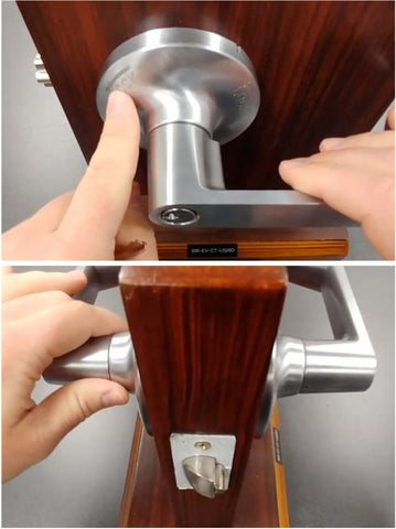 Engraved lock/unlock for Intruder Lock