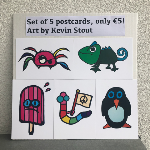 Kevin Stout Postcards (Set Of 5)