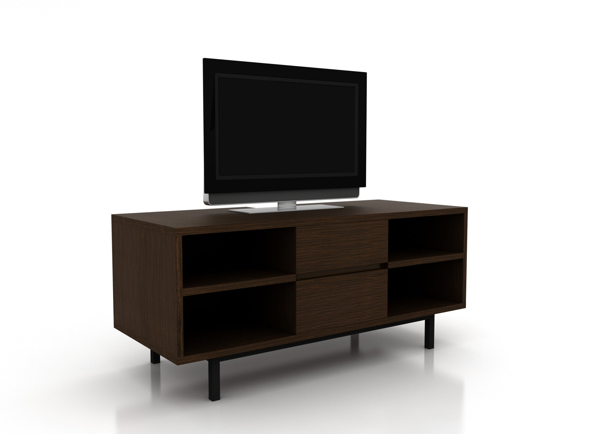 Muebles de TV Mexico DF Madera Wengue Front Polimob
