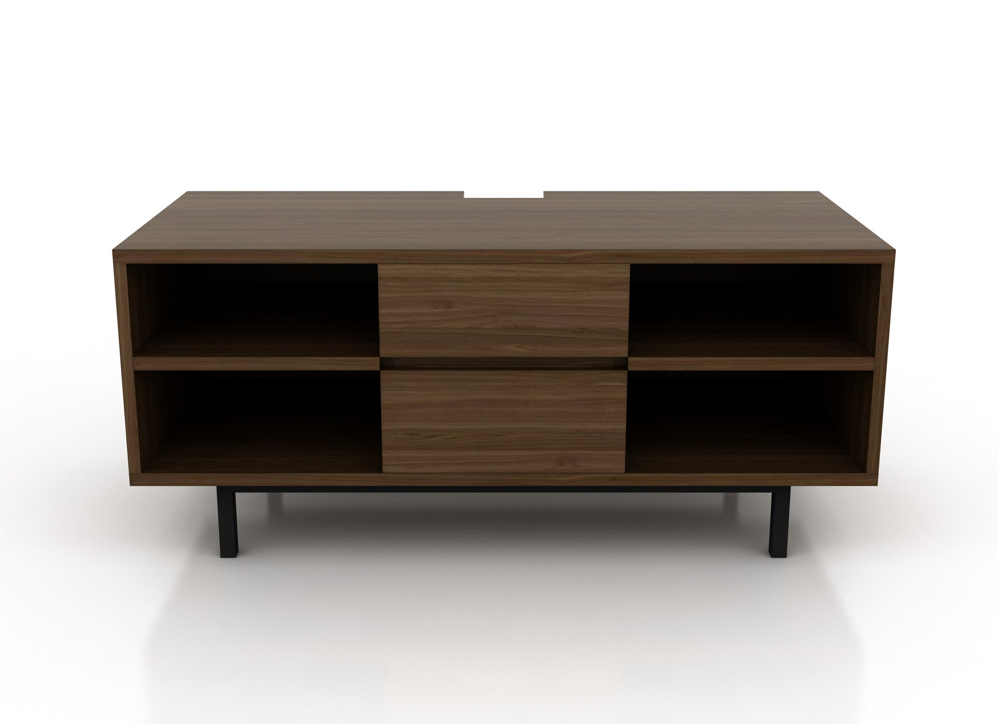 Muebles de TV Mexico DF Polimob Nogal Front Madera