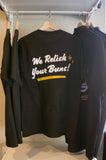 """We Relish Your Buns!"" pocket t-shirt"