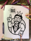 The King Eddy Colouring Book