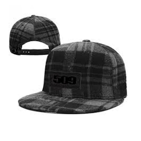 509 Plaid Wool Flat Bill Hat