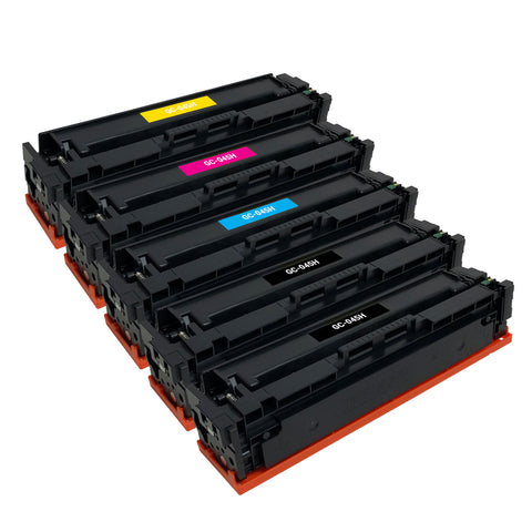 Remanufactured Toner Cartridge Replacement for Canon 045 045H 1246C001 1245C001 1244C001 1243C001 (5 PACK)