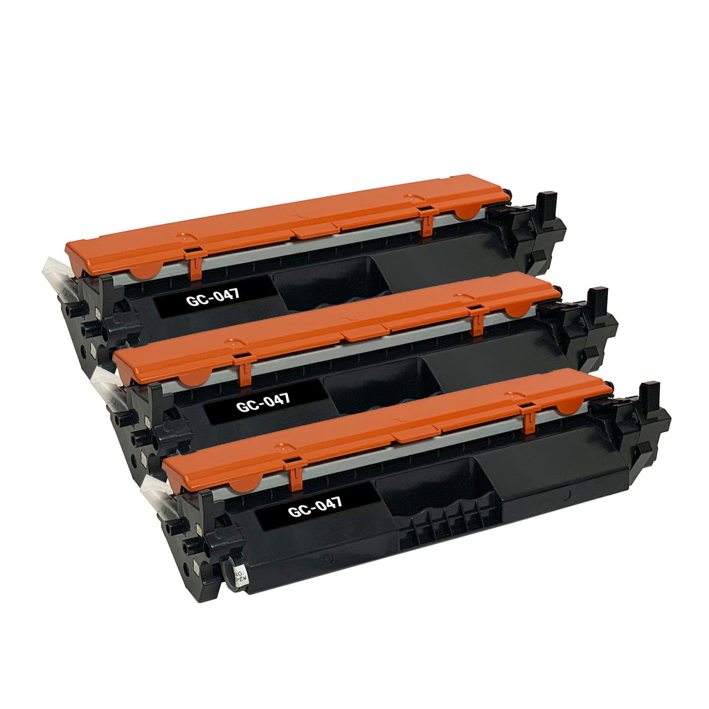 Remanufactured Toner Cartridge Replacement for Canon 047 2164C001 (3 Pack)