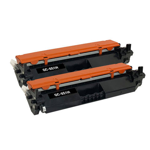 Remanufactured Toner Cartridge Replacement for Canon 051H 2169C001 (2 PACK)