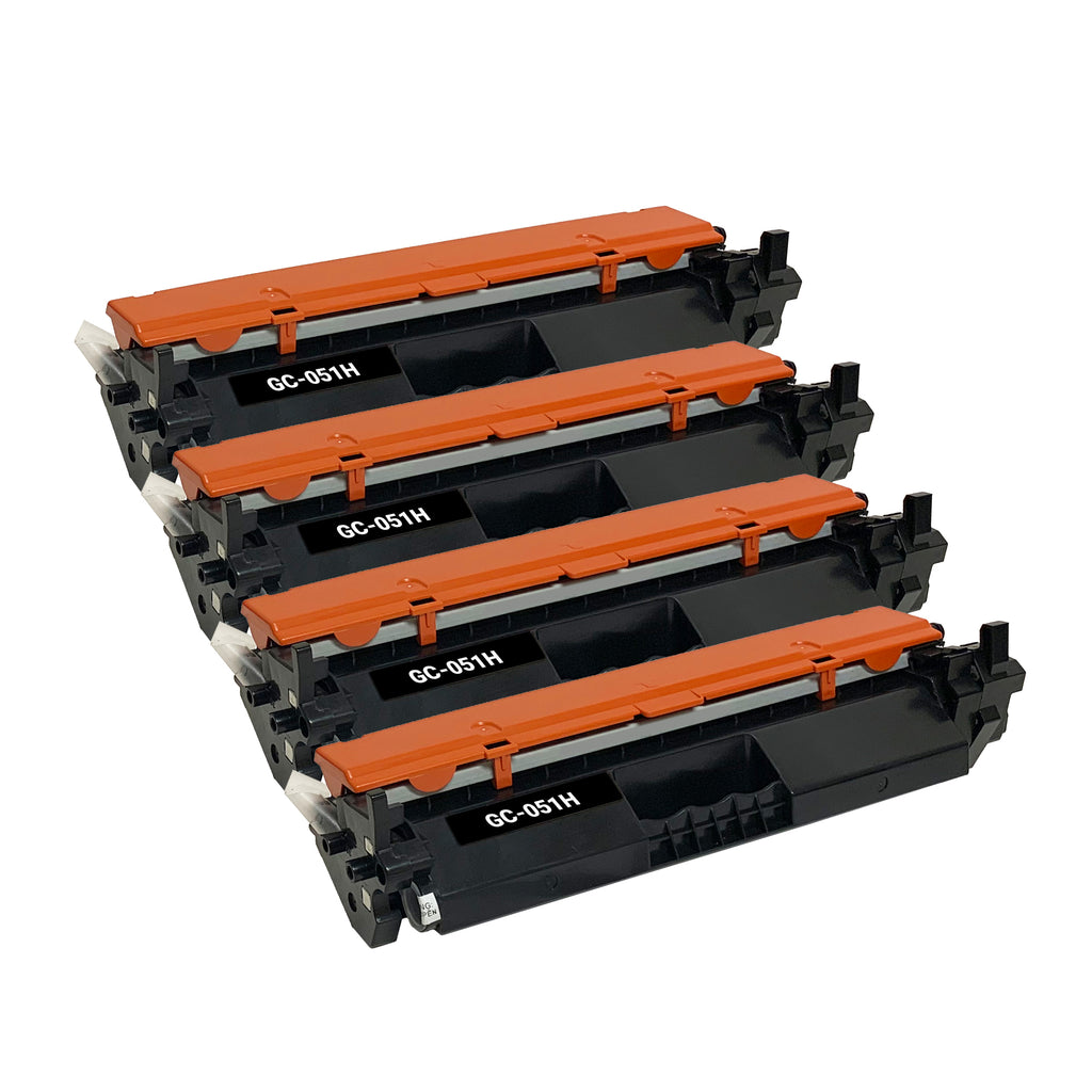 Remanufactured Toner Cartridge Replacement for Canon 051H 2169C001 (4 Pack)