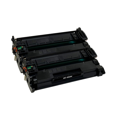 Remanufactured Toner Cartridge Replacement for Canon 052H 2200C001 (2 PACK)