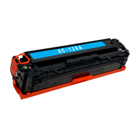 Remanufactured Toner Cartridge Replacement for HP 128A Cyan CE321A