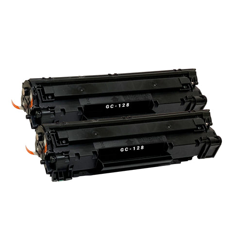 Compatible Toner Cartridge Replacement for Canon 128 3500B001AA (2 PACK)