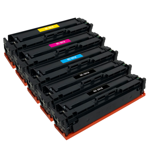 Remanufactured Toner Cartridge Replacement for HP 201X CF400X CF401X CF402X CF403X (5 PACK)