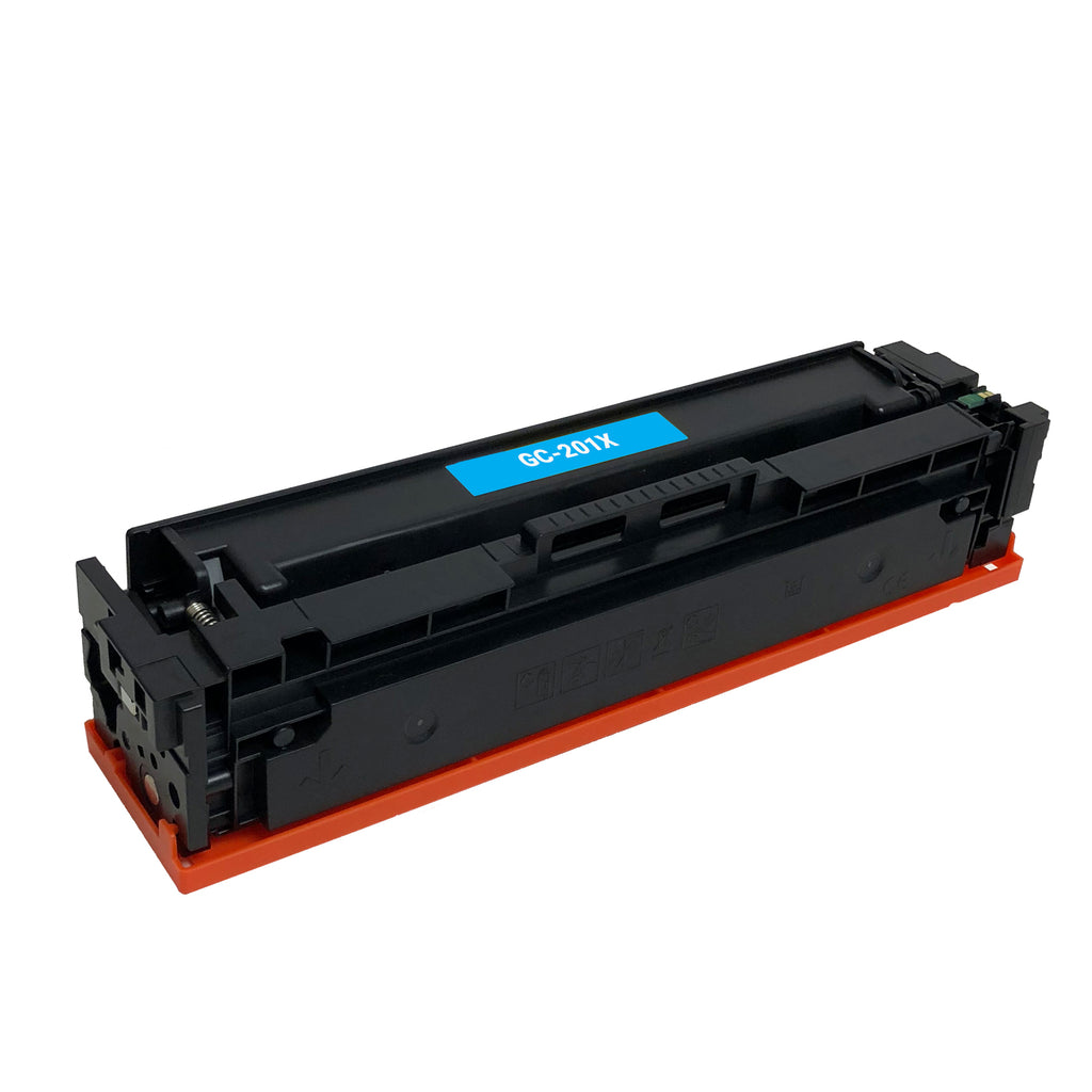 Remanufactured Toner Cartridge Replacement for HP 201X Cyan CF401X