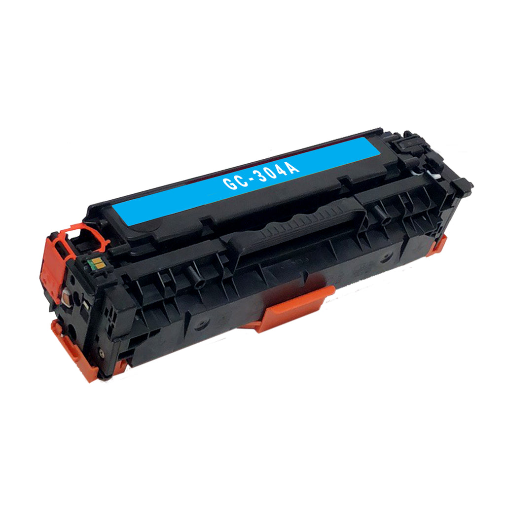 Remanufactured Toner Cartridge Replacement for HP 304A Cyan CC531A