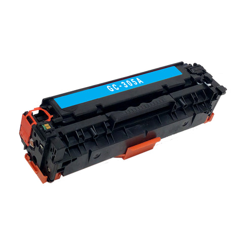 Remanufactured Toner Cartridge Replacement for HP 305A Cyan CE411A
